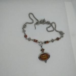 SAFARI Retired Premier Designs Necklace, Amber